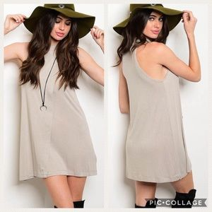 Rubbed Halter Top Dress
